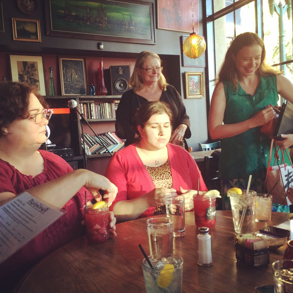 Some of the ladies enjoying the atmosphere of the Gypsy Den.