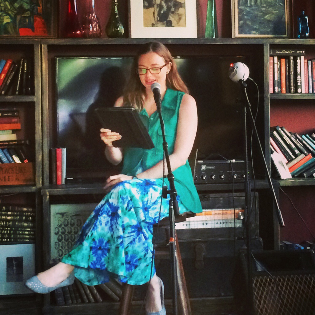 "Libby Waterford reading from her contemporary romance novel ""Love Unlocked"""